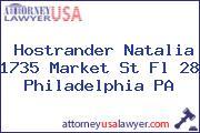 Hostrander Natalia 1735 Market St Fl 28 Philadelphia PA