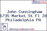 John Cunningham 1735 Market St Fl 28 Philadelphia PA