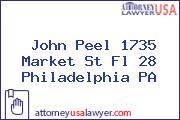 John Peel 1735 Market St Fl 28 Philadelphia PA