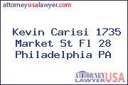 Kevin Carisi 1735 Market St Fl 28 Philadelphia PA