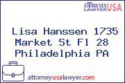 Lisa Hanssen 1735 Market St Fl 28 Philadelphia PA