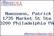 Naessens, Patrick 1735 Market St Ste 3200 Philadelphia PA