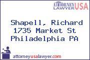 Shapell, Richard 1735 Market St Philadelphia PA