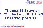 Thomas Whitworth 1735 Market St Fl 28 Philadelphia PA