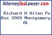 Richard H Allen Po Box 2069 Montgomery AL