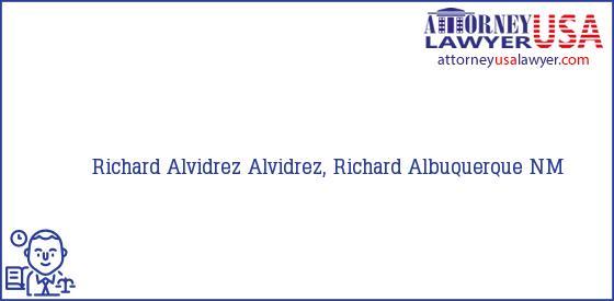 Telephone, Address and other contact data of Richard Alvidrez, Albuquerque, NM, USA
