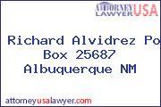 Richard Alvidrez Po Box 25687 Albuquerque NM