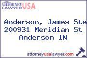 Anderson, James Ste 200931 Meridian St Anderson IN