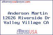 Anderson Martin 12626 Riverside Dr Valley Village CA