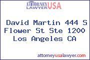 David Martin 444 S Flower St Ste 1200 Los Angeles CA