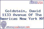 Goldstein, David 1133 Avenue Of The Americas New York NY