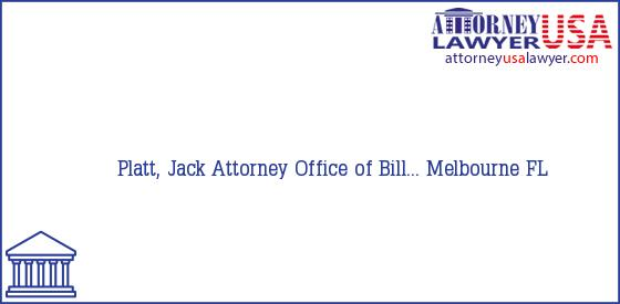Telephone, Address and other contact data of Platt, Jack, Melbourne, FL, USA