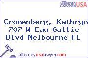 Cronenberg, Kathryn 707 W Eau Gallie Blvd Melbourne FL