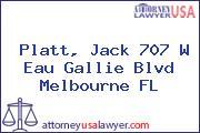 Platt, Jack 707 W Eau Gallie Blvd Melbourne FL