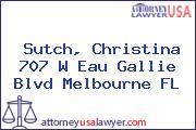 Sutch, Christina 707 W Eau Gallie Blvd Melbourne FL