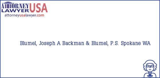 Telephone, Address and other contact data of Blumel, Joseph A, Spokane, WA, USA