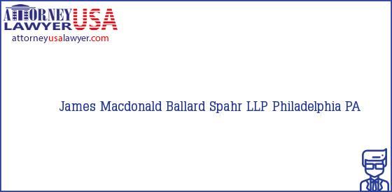 Telephone, Address and other contact data of James Macdonald, Philadelphia, PA, USA