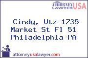 Cindy, Utz 1735 Market St Fl 51 Philadelphia PA